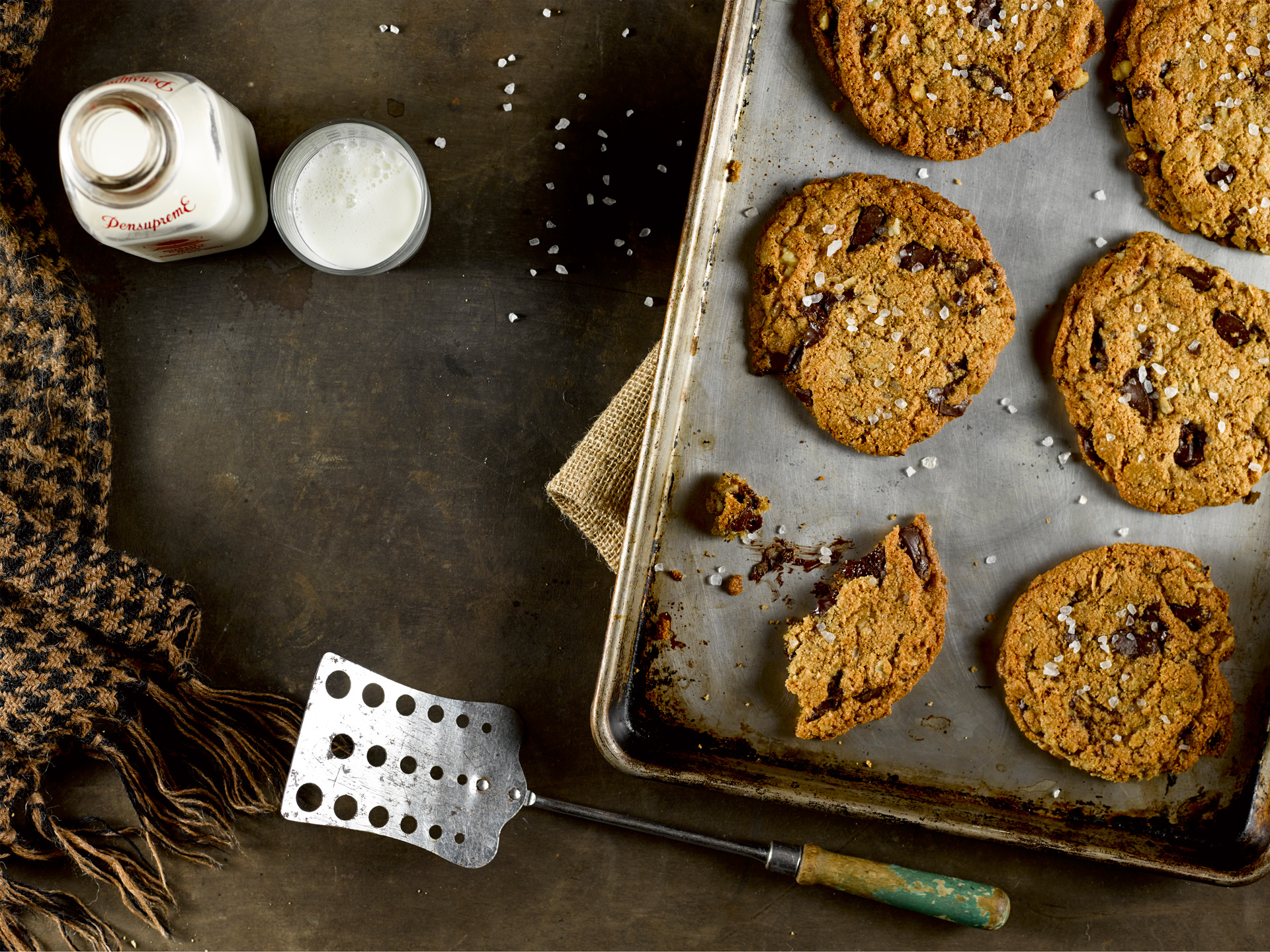 Chocolate Chunk Cookies with Sea Salt and Black Walnuts